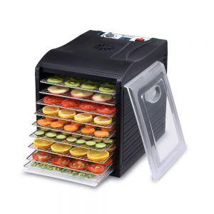 Deshidrator alimente Kitchen Line, 700 W, 9 tavi, temperatura reglabila 35-70°C, Negru