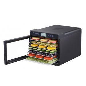 Deshidrator alimente Kitchen Line, PRO 2020, 7 tavi, DISPLAY, 500 W, temperatura reglabila 35-70°C, Negru, Timer, Control Digital, 345x450x(H)315 mm