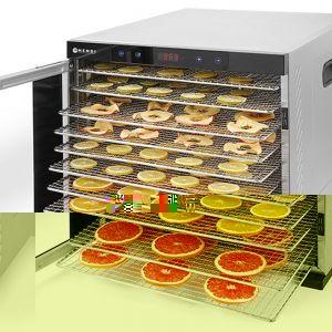 Deshidrator alimente Profi Line, 1000 W, 10 tavi, Temperatura reglabila 35-75°C, Gri