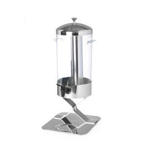 Dispenser suc 5 litri, cu sistem racire cu cuburi gheata, corp inox, cuva policarbonat, 28x22x(H)51 cm