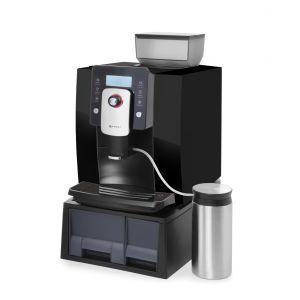 Espressor Profi Line, 1400 W, Panou digital, Rasnita incorporata, 750g, Program de curatare automata, Contor, Negru