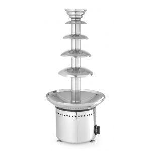 Fantana de ciocolata, 265 W, functie mentinere la cald pana la 110˚C Argintiu, capacitate maxima 6 Kg de ciocolata