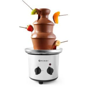 Fantana de ciocolata, 275 W, functie mentinere la cald, Argintiu/Negru