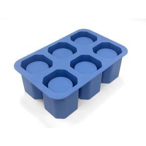 Forma din silicon durabil pentru cuburi de gheata tip pahar pentru shot, 12.5x19x(H)6 cm, potrivita si pentru uz profesional