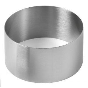 Forma Inel decorare alimente / prajituri, 90x(H)50 mm, Inox