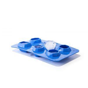 Forme asortate din silicon durabil pentru cuburi de gheata, 19x10.5x(H)3 cm, potrivita si pentru uz profesional