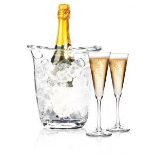 Frapiera / racitor vin, sampanie, policarbonat transparent, 22 x 18.5 x 22. 6 cm