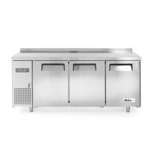 Frigider profesional ARKTIC by Kitchen Line cu 3 usi 390 L 1800x600x(H)850 mm otel inoxidabil -2/8°C 400 W 3 rafturi 2x 430x428 mm, 1x 490x428 mm incluse