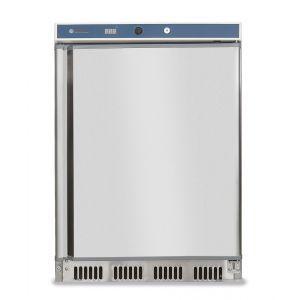 Frigider profesional Budget Line cu 1 usa 130 L 600x585x(H)855 mm otel inoxidabil 2/8°C 100 W 3 rafturi cu dimensiuni 2x 500x415, 1x 500x211 mm