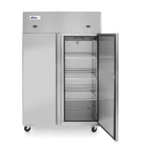 Frigider si congelator profesional Profi Line cu 2 usi 420+420 L 1200x745x(H)1950 mm otel inoxidabil -2/+8°C, -17˚/-22˚C 700 W 3 rafturi 510x525 mm incluse