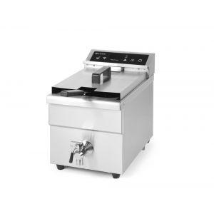Friteuza cu inductie Kitchen Line, 8 lt, corp inox, 3500W, functie boost pentru incalzire rapida, 290x485x(H)406mm