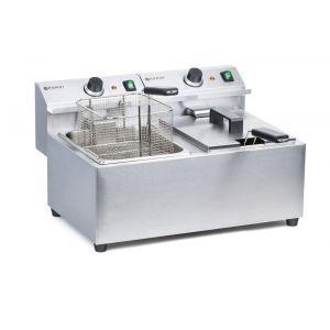 Friteuza electrica profesionala dubla 2x8 litri, inox, 2x3500W, Mastercook