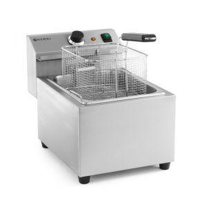 Friteuza electrica profesionala, Mastercook 8 lt, 3500W, temperatura reglabila pana la 195 gr C