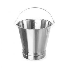 Galeata pentru bucatarie din inox, 15 litri, gradata, cu maner si baza consolidata, ø305x(H)310 mm