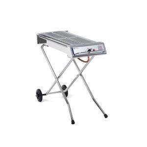 Gratar barbecue, inox, alimentare gaz, suprafata grill 86x26 cm, 7.5 kW, baza pliabila si mobila, Xenon Pro