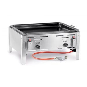 Grill gaz, tava coacere 59x48 cm, inox, 11,6 kW, consum 0,43 m3/ora, pt uz exterior, Bake Master model Maxi