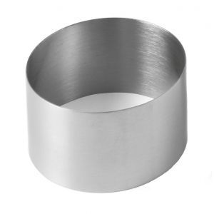 Inel decorare pentru patiserie si plating, 70x45 mm, inox,