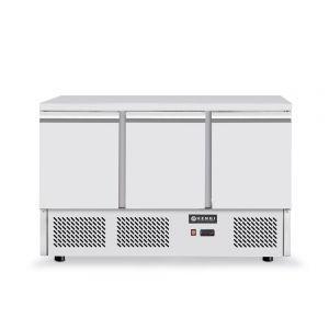 Masa frigorifica rece cu 3 usi, inox, ARKTIC by Kitchen Line, capacitate camera frig 380 lt, consum mediu/24h 4,5 kw