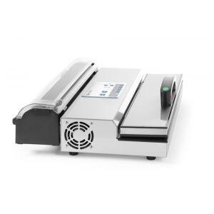 Masina ambalare vacuum Hendi Kicthen Line, 650W, compatibil pungi gofrate si role, Argintiu/Negru