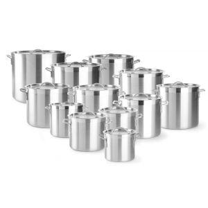 Oala cu capac 88 litri, 52x(H)44.5 cm, aluminiu, grosime 2.5 mm, manere nituite, gama Budget Line
