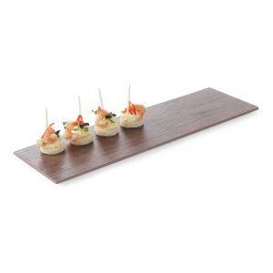 Platou servire, melamina cu aspect de lemn, maro, GN 2/4 (52.5 x 16 x (H) 1 cm)