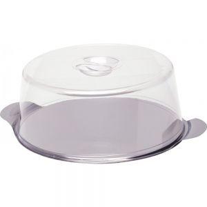 Platou tort cu capac, otel inoxidabil/plastic SAN, Ø30x(H)11 cm