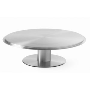 Platou tort rotativ cu picior, inox, 300x(H)90 mm