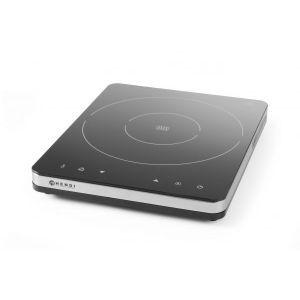 Plita cu inductie profesionala, 2000W, control digital, corp inox, 296x370x(H)46 mm
