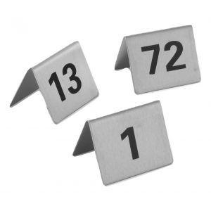 Semn pentru masa - numere 1-12, 55x52x(H)35 mm, Hendi