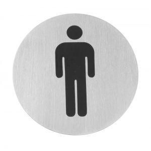 Semn pentru usa - Barbati - 75 mm, inox, Hendi