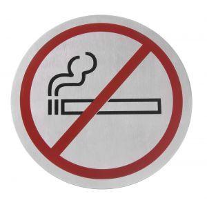 Semn pentru usa - Fumatul interzis - 75 mm, inox, Hendi
