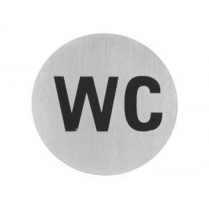 Semn pentru usa - Toaleta - 75 mm, otel inoxidabil, Hendi