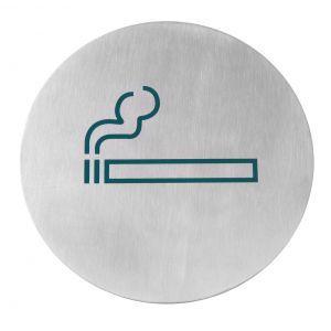Semn pentru usa, otel inoxidabil - Fumatori - 160 mm, Hendi