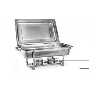 Set 2 Chafing dish Gastronorm GN1/1, adancime 65 mm, 9lt, inox,