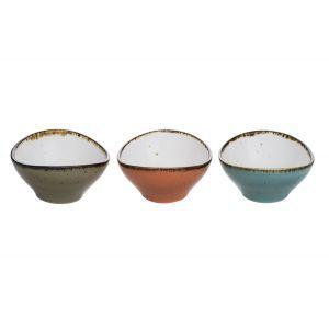 Set 3 Boluri și colandere servire Cosy & Trendy by Hendi, Portelan, 9 x 8.5 x H 4.5 cm