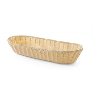 Set 3 x Cos servire paine, oval, 375x150x(H)75 mm, din polyratan, Hendi