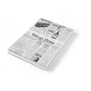 Set 500 de foi hartie impermeabila grasime pentru servire cartofi prajiti sau aperitove, 25x35 cm, print tip ziar