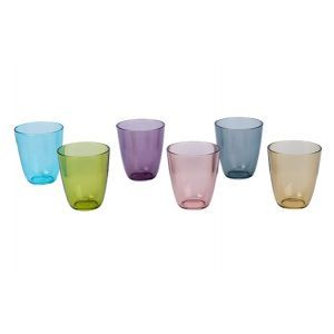 Set 6 pahare multicolore, Cosy & Trendy by, 310 ml