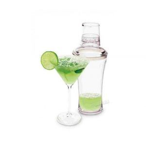 Shaker cocktail transparent, 0.65 lt, Diametru 95 mm X 250 (H) mm