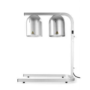 Suport cu 2 lampi infrarosu pentru incalzire alimente, 500 W, Argintiu