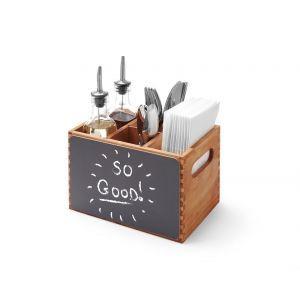 Suport tacamuri din lemn durabil cu tabla integrata 210x150x(H)150 mm