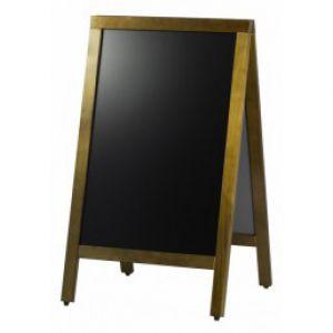 Tabla afisaj stradal pentru restaurante/cafenele, 2 fete, rama lemn, 70x120 cm