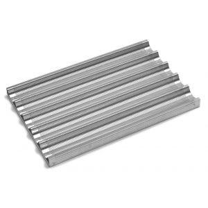 Tava cuptor pentru baghete, perforata, aluminiu, 600x400 mm