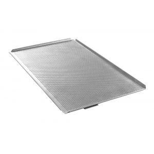 Tava cuptor perforata, GN 1/1 (535x325x(H)10 mm), cu 4 margini, aluminiu