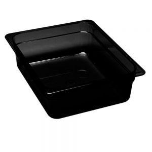Tava Gastronorm 1/2, Plexi Line, din plexiglas negru, 325x265x(H)17 mm