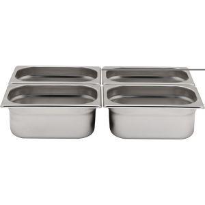 Tava Gastronorm GN 1/4 40 mm 1.7 lt - gama Profi Line, otel inoxidabil