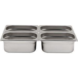 Tava Gastronorm GN 1/6 65 mm 1 lt - gama Profi Line, otel inoxidabil