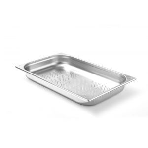 Tava perforata Gastronorm GN 1/1 (530x325 mm), H=65 mm 8.6 lt, inox, Hendi Kitchen Line