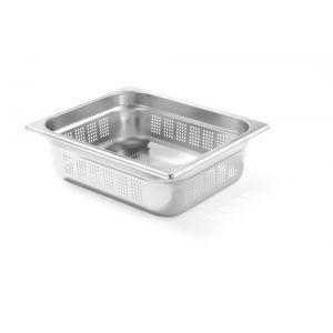 Tava perforata Gastronorm GN 1/2 100 mm 5.6 lt - gama Profi Line, otel inoxidabil