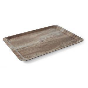 Tava servire 24x35 cm, din melamina cu aspect de lemn stejar inchis,